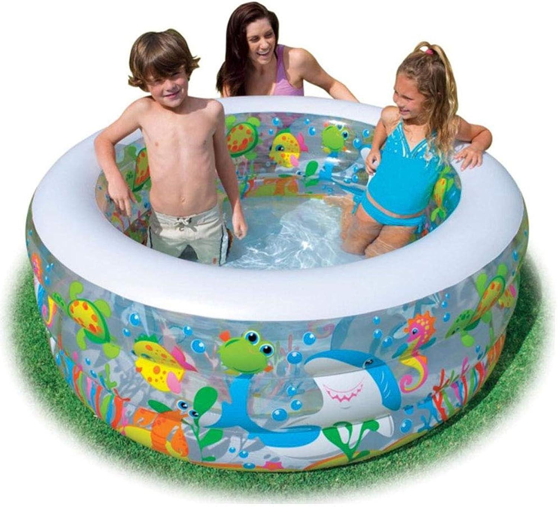Thole Planschbecken Runden Aufblasbares Swimming Center Family Lounge Tragbar Spiele FüR Kinder Und Erwachsene 152x56cm