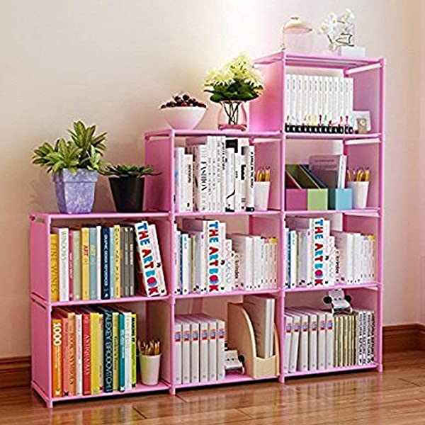 Shaofu Industrial Style Bookcases And Book Shelves Metal And Wood Free Vintage Bookshelfs US Stock Shelf