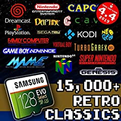 THIS VERSION WORKS ON RASPBERRY PI 3B / 3B+ ONLY! IT WILL NOT WORK ON THE PI 4 BEST QUALITY Samsung or SanDisk 128 GB MicroSD Memory Card - Loaded Collection with Video Previews & 3D Boxart 15k Retro Classics Version for Raspberry Pi 4 can be found h...