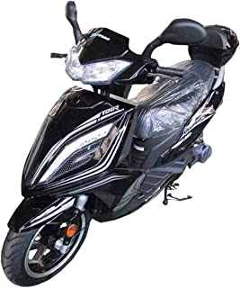 X-PRO 150cc Moped Scooter Street Scooter Gas Moped 150cc Adult Scooter Bike (Black)