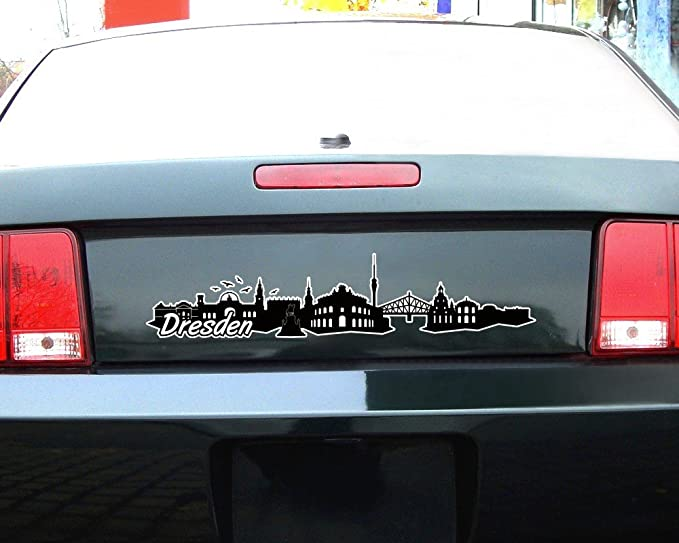 Autoaufkleber Dresden Aufkleber Skyline Sticker 25 Farben 8 Größen Sticker