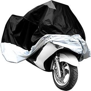 LanXi® Abdeckhaube atmungsaktiv für Motorrad Wasserdicht und UV inkl. Aufbewahrungsbeutel schwarz Größe XL