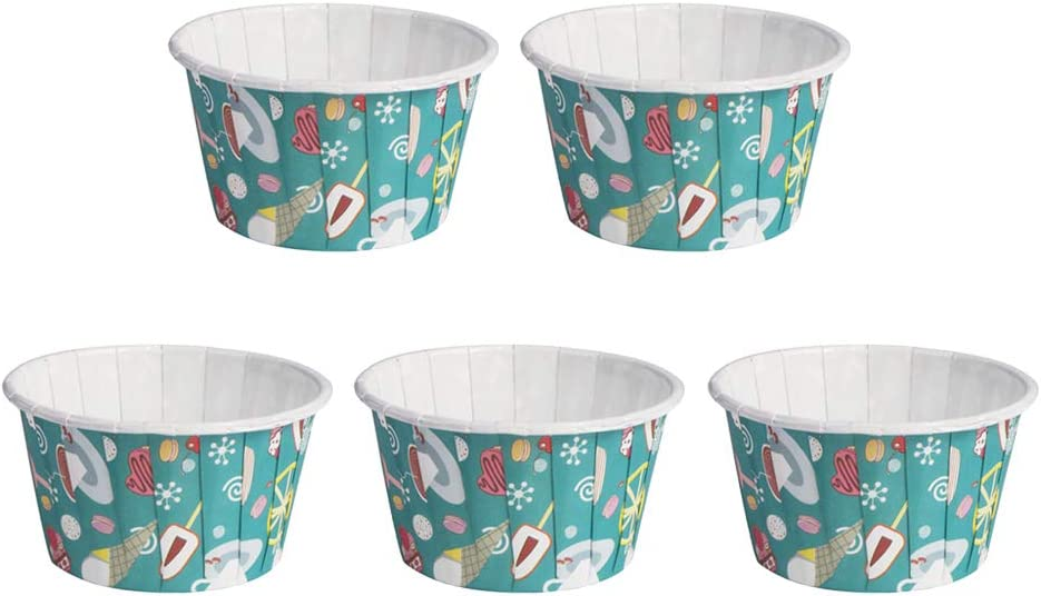 Over item handling UPKOCH Paper Cake Excellence Cup Baking Heat for Wed Birthday Resistant