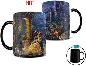 Morphing Mugs Thomas Kinkade Disney's Beauty and the Beast Dancing in the Moonlight..