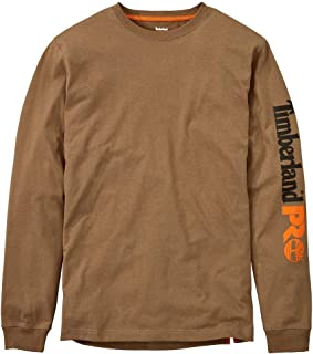 Men's Big and Tall Base Plate Blended Logo Long-Sleeve T-Shirt