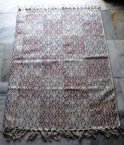 silkroude Tapis indien en coton kilim imprimé turc kilim Dhurrie main