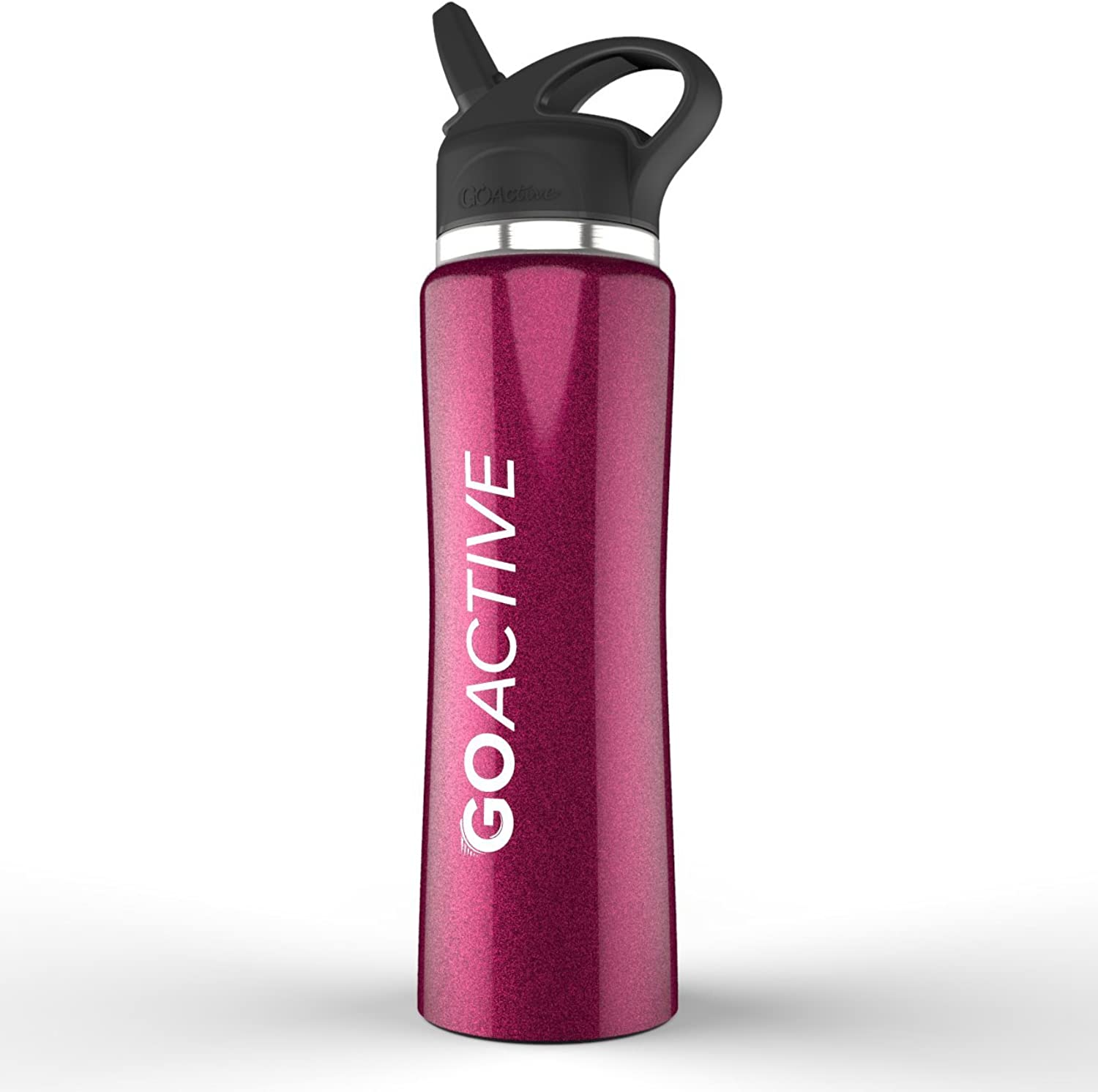 GO Active Stainless Steel Insulated Sport Bottle Features Premium lid with Straw