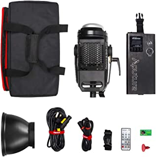 Aputure LS C120D II 120d ii Updated Daylight 180W LED Continuous V-Mount Video Lights CRI96+ TLCI97+ 30,000lux@0.5m Bowens Mount Dual Power Supply 2.4G Remote Control Continuous Output Lighting