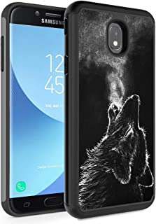 Galaxy J3 2018/J3 Express Prime 3/J3 Star/J3 Achieve Case,Rossy Hybrid TPU Plastic Dual Layer Armor Defender Protection Case for Samsung Galaxy J3 2018,Winter Wolf Howling