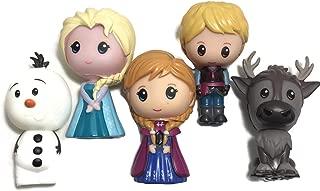 Disney Frozen LARGE Vinyl Figures Set of 5 - Elsa, Anna, Kristoff, Olaf and Sven