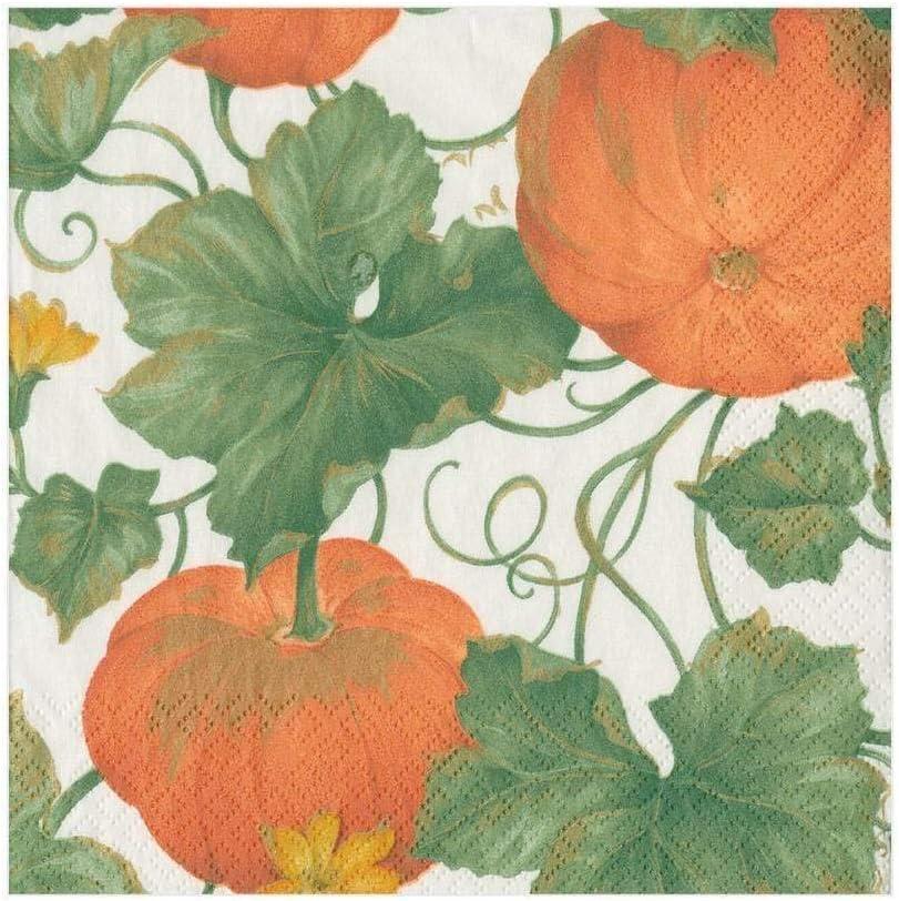 Caspari Max 56% OFF Heirloom Pumpkins Challenge the lowest price of Japan ☆ Paper Luncheon Ivory Oran Napkins in