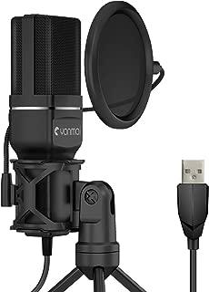 コンデンサーマイク PC マイク USBマイク マイクセット 単一指向性 防振構造 専用三脚 ポップガード マイクショックマウント マイクスタンド 高音質 録音 生放送 YOUTUBE ゲーム実況 Windows/Mac対応