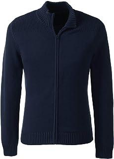 School Uniform Men's Cotton Modal Zip Front Cardigan Sweater