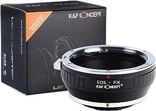 [正規代理店]K&F キャノン EOS EF(EF-S) レンズ-フジX FX マウントアダプター レンズクロス付 ef-fx (KFFX)