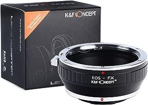 K&F Concept EOS EF/EFS Lens to FujiFX Mount X-Pro1 X Camera X-Series Mirrorless Cameras