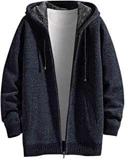 Men's Autumn Winter Casual Solid Hoodie Jacket Coat Men Sweatshirt Tops
