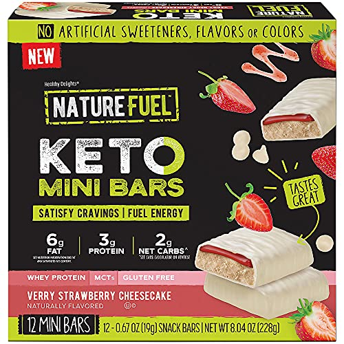 Keto Mini Bars Verry Strawberry Cheesecake (12 Mini Bars)