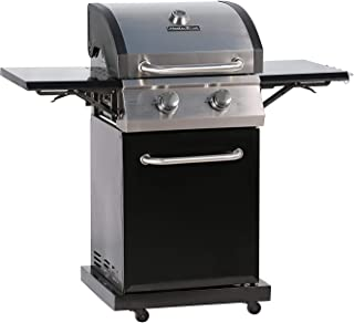 MASTER COOK 2-Burner Cabinet Liquid Propane Gas Grill- Stainless Steel 32000BTU 312 sq.in. Cooking Area Porcelain Grill Grate