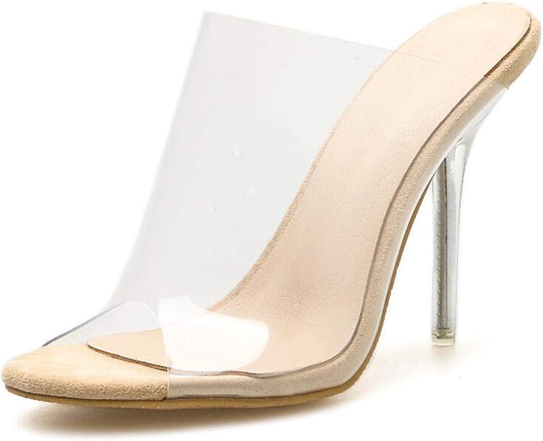 QDKM PVC Women Slippers Leopard Print Heels Pointy Toe Stiletto Heels 11CM Mules Female Outdoor Slippers