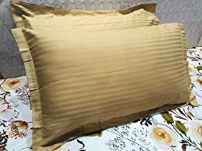 Urban Space - Marvel 300 TC 100% Cotton Pillow Covers (18X28-inch,Taupe) - Pack of 2