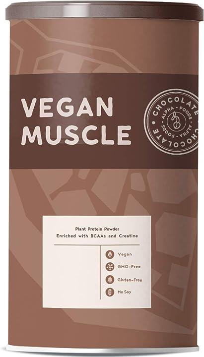 Proteine vegane per i muscoli | cioccolato | 600 grammi 0785614360909