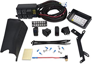 WATERWICH A Pillar Switch Pod and Fuse Relay Box Source Control System For Jeep Wrangle JK JKU 2007-2018 Waterproof 4 Rocker Switch Wire Wiring Harness Kit DC 12V (Left Side A-Pillar 4-Switch Pod)