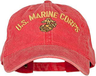 e4Hats.com US Marine Corps Logo Embroidered Washed Cotton Twill Cap