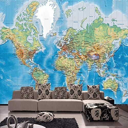wallmuralthree Wandtattoos -Bilder Hd Weltkarte Wallpaper Study Room Wallpaper_208Cm X 146Cm