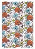 GELCO Textil-Duschvorhang 'SAKURA' 180x200 cm - weißer Hintergr& mit bunten Blumenmotiven - GELCO DESIGN
