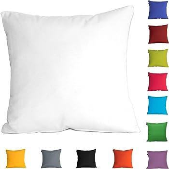 Dhestia Pack X 2 Fundas Cojines Decoración Sofá Y Cama 45X45 Cm Loneta Colores (Blanco/White), 45 X 45 Cm: Amazon.es: Hogar