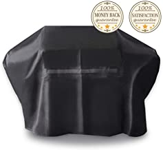 iCOVER Grill Cover- 82 Inch 600D Heavy-Duty Water Proof Patio Outdoor Black Canvas Oversize BBQ Barbecue Smoker Grill Cover G21607 for Weber Char-Broil Brinkmann Holland Napoleon JennAir