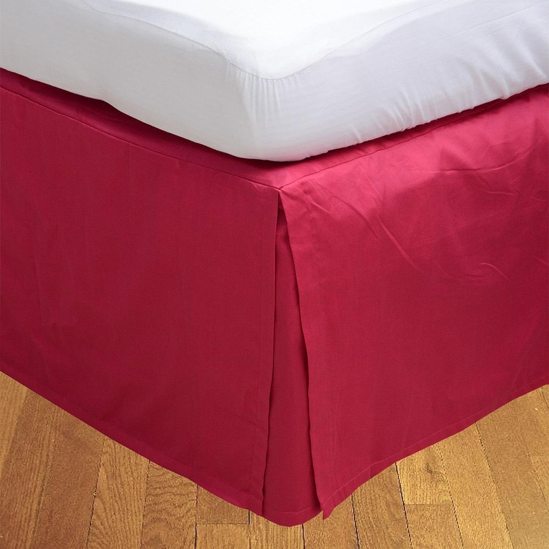 LaxLinens 350 fils cm2, 100%  coton, finition élégante 1 jupe plissée de chute lit Longueur    30  - Royaume-Uni - 1 personne-Rose