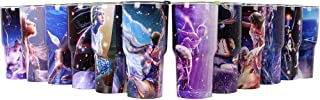 30 oz. Double Wall Stainless Steel Vacuum Insulation Travel Mug Crystal Clear Lid Water Coffee Cup For Home, Office, School - Works Great for Ice Drink, Hot Beverage (30oz Starry Sky)