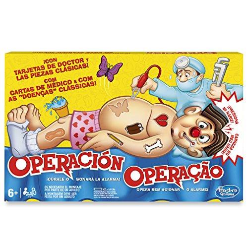Hasbro Gaming B2176B09 Operación - Juego para niños, 6+ a