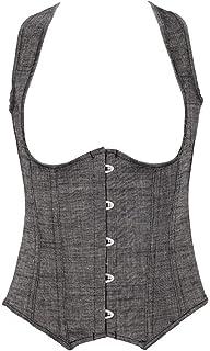 Fashion Cosplay Womens Push Up Underbust Corset Waist Training Body Shaper Bustiers (Size : XXXXXX-Large)