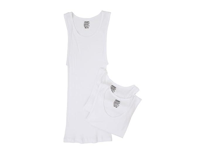1920s Men's Underwear, Pajamas, Robes and Socks History Jockey Cotton A-Shirt 3-Pack White Mens Underwear $23.95 AT vintagedancer.com