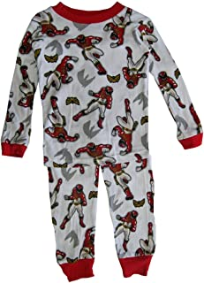 Power Rangers Big Boys White Red Character Print All-Over 2 Pc Pajama Set 8 8062ae2d8
