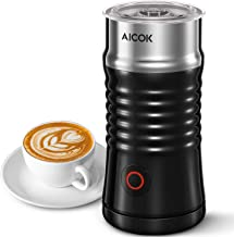 Milk Frother, Aicok Electric Milk Steamer with Hot or Cold Milk Froth with Double Wall, Strix Control, Non-Stick Coating, ...