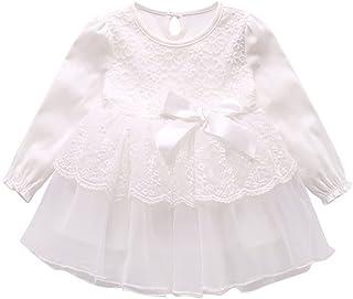 (チェリーレッド) CherryRed ベビー服 フォーマルドレス 白色 リボン プリンセス ふんわり