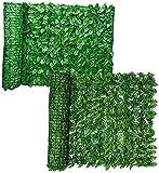 TREEECFCST Seto Artificial Vallas Decorativas Valla de jardín de privacidad para jardín al Aire Libre, Patio Trasero, balcón, Pantalla Artificial, Paneles de Cobertura de Hojas de Hiedra Artificial