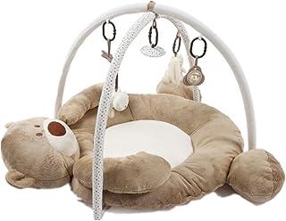 ベビージム プレイマット デラックスジム 知育おもちゃ インテリア ベビー マタニティ 5個おもちゃが付き  (ブラウン)