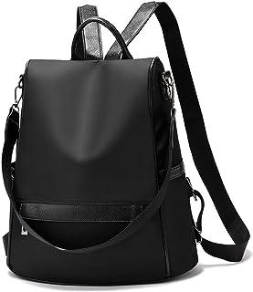 Anti-theft Backpack Purse for Women, Waterproof Nylon Convertible Lightweight Rucksack School Travel Shoulder Bag