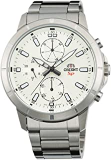 ORIENT MEN'S SP STEEL BRACELET & CASE QUARTZ WHITE DIAL WATCH FUY03002W0