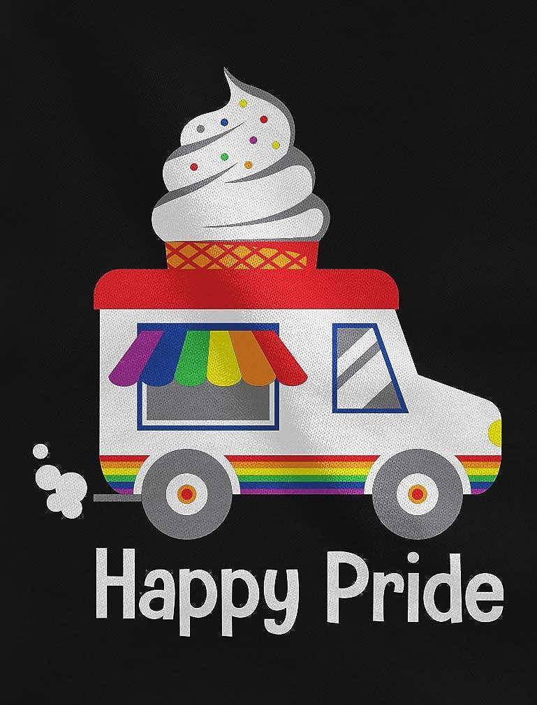 Equality Rainbow LGBT Ice Cream Truck Pride Flag Toddler//Kids Sweatshirt