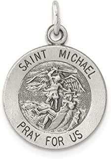 925 Sterling Silver Saint Michael Medal Pendant Charm Necklace Religious Patron St Fine Jewelry For Women