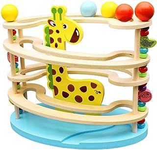 TOYMYTOY 玉転がし ビーズコースター 木製おもちゃ スロープ 木のおもちゃ 積み木 ブロック 立体 迷路 知育玩具 子供 幼児 学生
