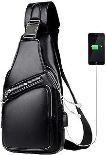 Surprise S Men'S Messenger Bag Shoulder Pu Leather Chest Bags Crossbody Business Male Bag With Usb Charging Handbag