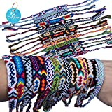 Carykon Pack of 12 Nepal Woven Friendship Bracelets (Neutral Style)