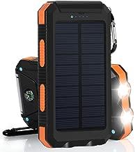 Mandorra Waterproof 30000mAh Dual USB Portable Solar Battery Charger Solar Power Bank Shockproof Battery