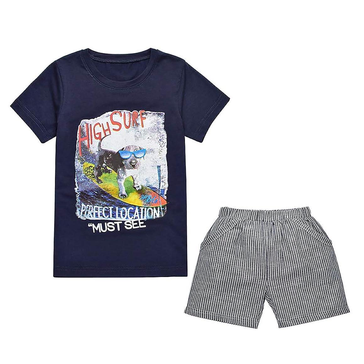 Boy's Cotton Clothing Sets T-Shirt&Shorts 2 Packs1-6 Years
